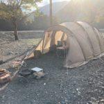 サバティカルのアルニカで行く!広大なフリーサイトが魅力的。つり橋の里キャンプ場をレビュー!!